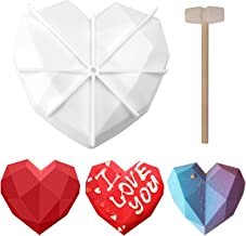 Ougrand Silicone Diamond Heart Shape M-old, Chocolate Cake Dessert Bakeware, Candy Making Supplies, Silicone Fondant Tray ...