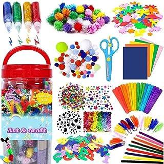 Mumoo Bear 1000PCS Arts and Crafts Supplies for Kids Toddler DIY Art Craft Kits Crafting Materials Toys Set for School Hom...