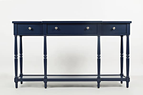 Jofran 1633 60 Stately Home 60 Console 60 W X 14 D X 34 H Navy Finish Set Of 1
