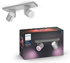 Philips Hue Argenta White & Colour Ambiance Smart Twin Ceiling Spotlight Bar LED (GU10) with Bluetooth, Aluminium, Compati...