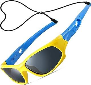 ATTCL Mixte Enfant Sport Lunettes De Soleil Polarisées UV400 Ultra Léger Flexible Cadre