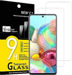 NEW'C 2 Unidades, Protector de Pantalla para Samsung Galaxy A71, Note 10 Lite, Antiarañazos, Antihuellas, Sin Burbujas, Du...