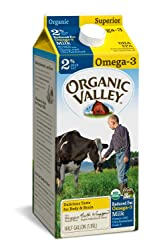 Organic Valley, Organic Omega-3 2% Reduced Fat Milk, Ultra Pasteurized, Half Gallon, 64 Ounces