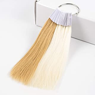 Hair Testing Color Rings Swatches Samples 100% Human Hair Ultra Thick Design, Dyeing Color Samples for Salon Cosmetology Student, 9 inches 30 pcs/Item (Light Brown+Blonde #27+#60)