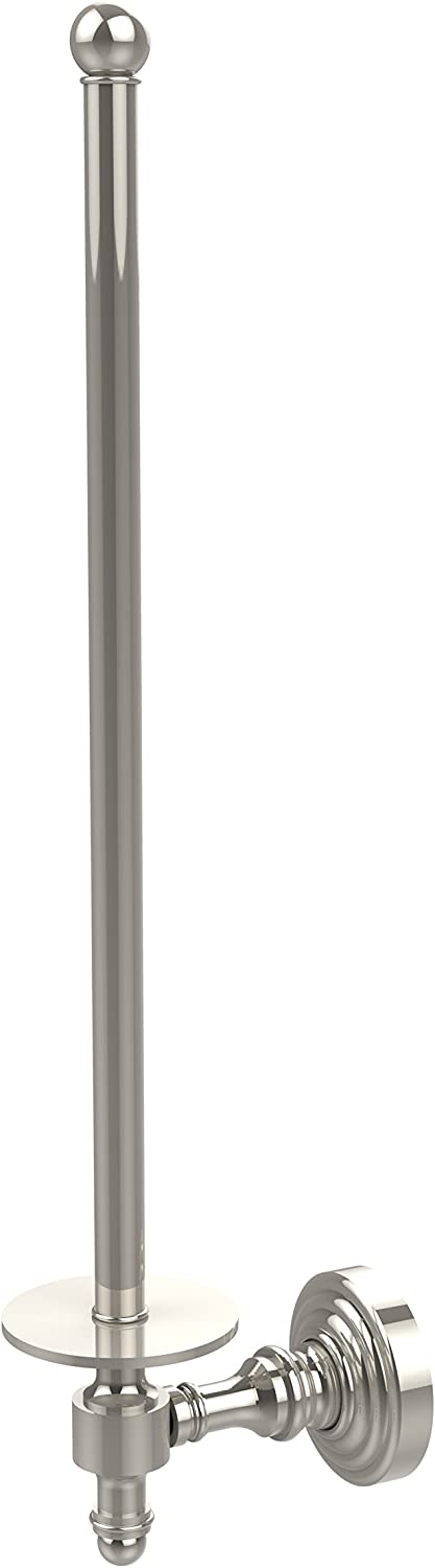 Allied Brass RW-24U 12-PNI Retro Wave Collection Wall Mounted Paper Towel Holder, Polished Nickel