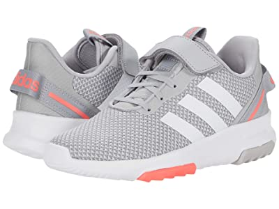 adidas Kids Racer TR 2.0 (Little Kid) (Grey Two/Footwear White/Signal Pink) Girls Shoes