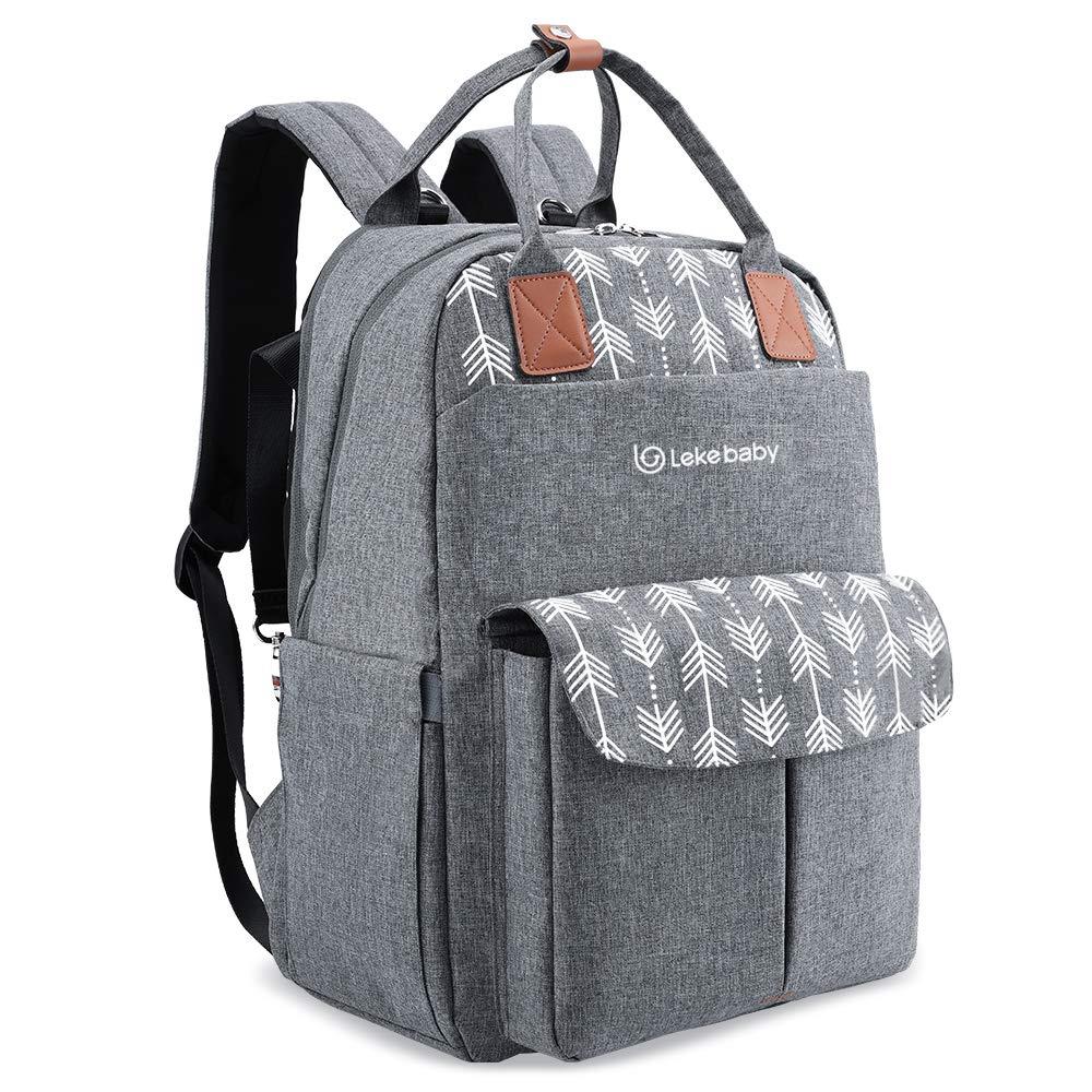 Lekebaby Diaper Backpack Changing Stroller
