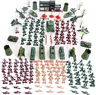 Military Figures and Accessories, 307PCS Military Base Set War Soldiers Playset Battlefield Accessories for Party Favor