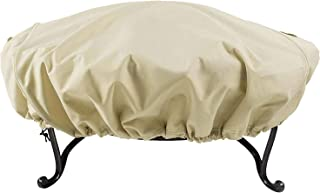 Leader Accessories 600D Full Coverage Round Fire Pit/Bistro Table Cover Heavy Duty & Waterproof & UV Resistand Fabric XL Size 42.5