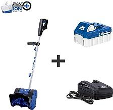 Snow Joe 24V-SS10 24-Volt iON+ Cordless Snow Shovel Kit | 10-Inch | W/ 4.0-Ah Battery and Charger