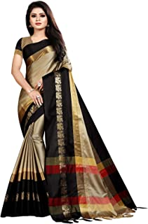 ebc01378a1f0f8 Active Feel Free Life Women's Cotton Silk Jacquard Woven Saree (Angi  Mor-08_Free Size