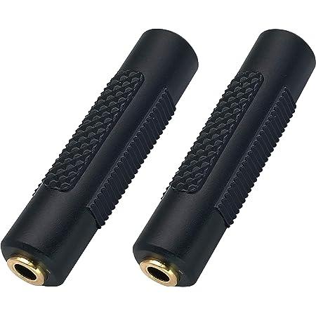 AAOTOKK 2.5 mm Auriculares Adaptador 4 Polos 2.5 mm Macho a 3.5 mm Hembra Jack Convertidor de Audio Est/éreo Carcasa de Metal para Auriculares Auriculares de audio,Micr/ófono 2 Unidades-2.5 to 3.5 M//F