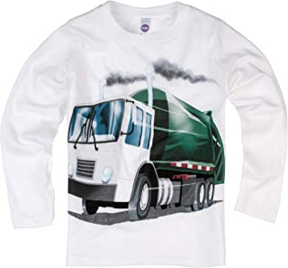 Shirts That Go Little Boys' Long Sleeve Garbage Truck T-Shirt