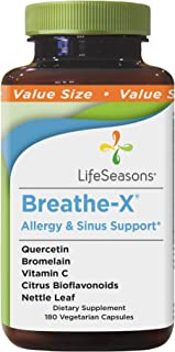 LifeSeasons - Breathe-X - Fast Acting Allergy Relief Supplement - Sinus and Nasal Discomfort - Naturally Boost Immune Syst...