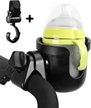 Universal Cup Holder with a Hook LANEYLI Stroller Cup Holder Bike Bottle Holder Large Caliber Designed 360 Degrees Rotation Fit for Baby Stroller, Bicycle, Wheelchair, Walker, Trolleys