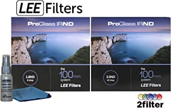 Lee Filters ProGlass 100mm IRND Premium collection - Includes 100mm IRND 1.8 6-stop filter, 100mm IRND 3.0 10-stop filter and 2filter cleaning kit