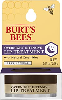 Burt's Bees 100% Natural Overnight Intensive Lip Treatment, Ultra-Conditioning Lip Care - 0.25 ounce