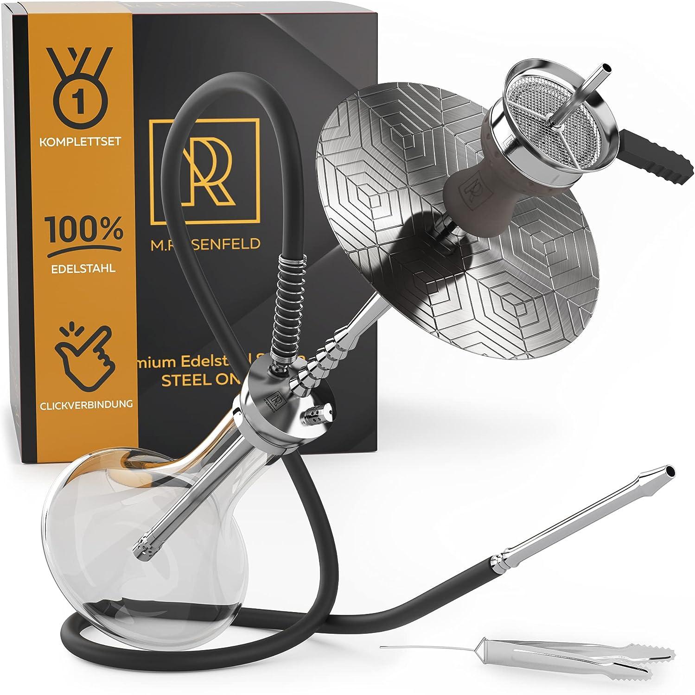M. ROSENFELD Shisha de acero inoxidable premium Steel One: la combinación perfecta de juego completo de HSisha y calidad a largo plazo (acero inoxidable).