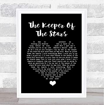 Birthday Gift The Keeper Of The Stars Vertical Poster Awesome Graphic Wall Art Custom Name Canvas Painting Lovely Graphic Canvas Gift for Your Lover