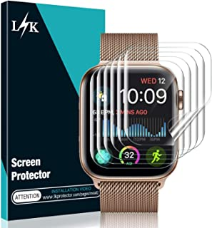 [6 Pack] L K Screen Protector for Apple Watch Series 5/4 44mm, [Full Coverage] [Self Healing] Anti-Bubble for iWatch 5 Flexible TPU HD Clear Film
