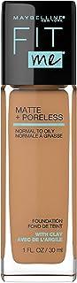 Maybelline Fit Me Matte + Poreless Liquid Foundation Makeup, Golden Caramel, 1 fl. oz. Oil-Free Foundation
