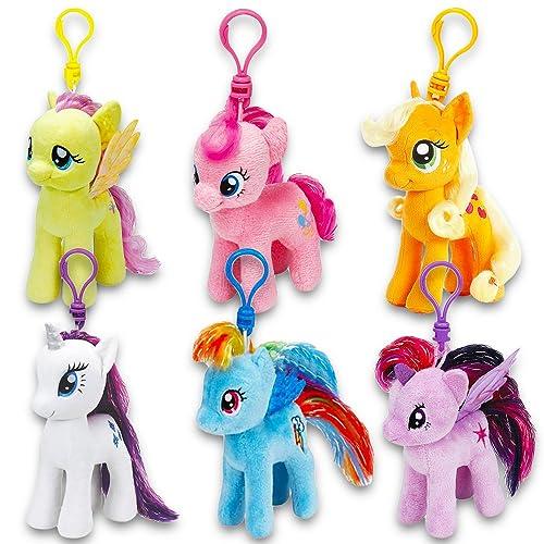 TY My Little Pony Beanie Babies Key Clip Chain Ring Plush Soft Toy