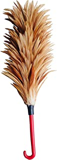 Chicken Broom Chicken Feather Duster, Rooster Chicken Feather Duster, Wood Feather Brush, Feather Brush, Chicken Brush, L Natural Brown (5
