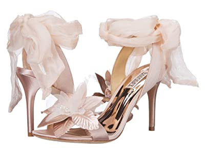 Badgley Mischka Almira (Blush Satin/Chiffon) High Heels