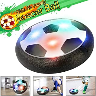 Hover Balls Soccer Air Power Floating Flying Hover Ball Disc Hover Ball Soccer Toys w/ Powerful LED Light and Foam Bumpers Training Football Soccer for Girls and Boys by ihoven