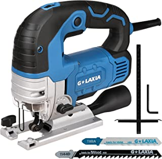 G LAXIA 750W Jig Saws, 800-3000 SPM Variable Speed Professional Jigsaw,45°Bevel Cutting,Lock Button to Protect Safety,Adju...