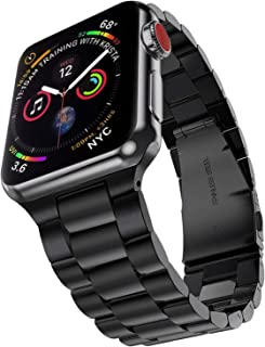 PUGO TOP Compatible with Apple Watch Band 38mm 40mm Series 5/4/3/2/1 Iwatch Link Band Stainless Steel Metal Men Women.(38mm/40mm, Space Gray)