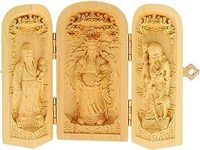 sharprepublic Supplies Bless Good Luck Fukurokuju Lucky Star 3 God Buddha Statue Box