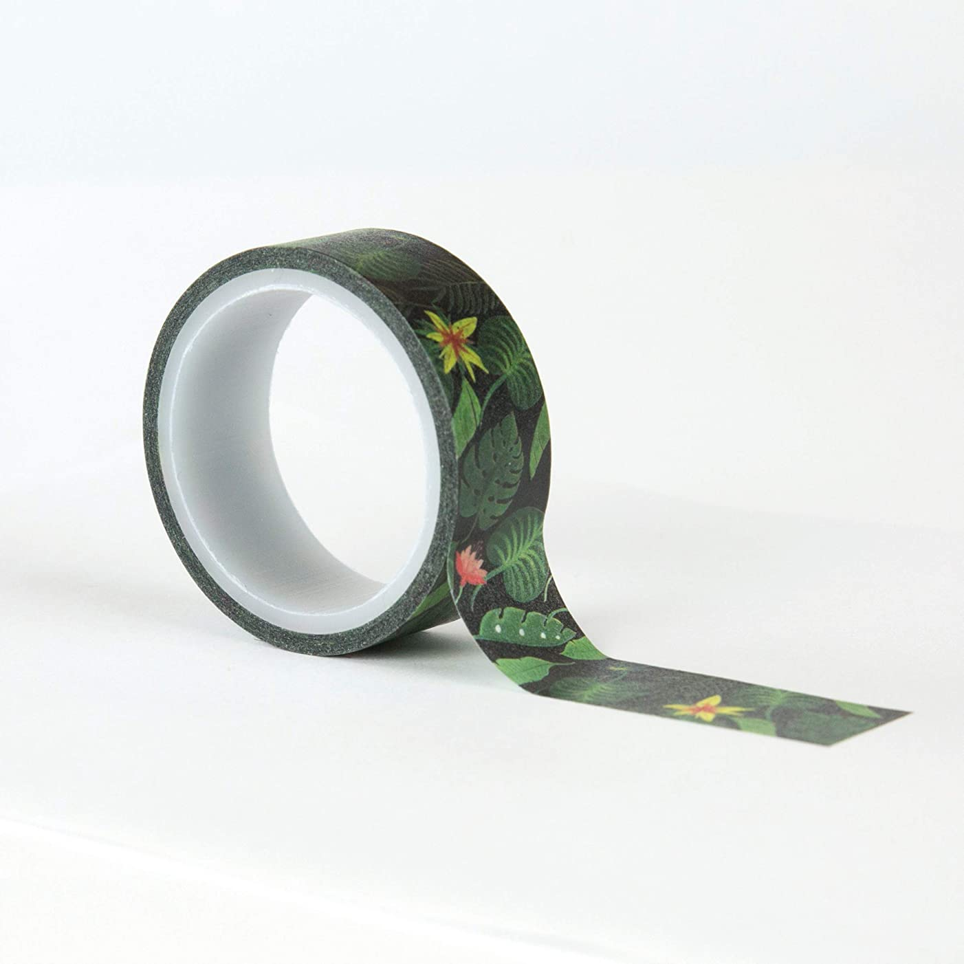 Echo Park Paper Company ZOO167027 Decorative Jungle Palms washi Tape, Green, Navy, Blue, Yellow, red, Pink