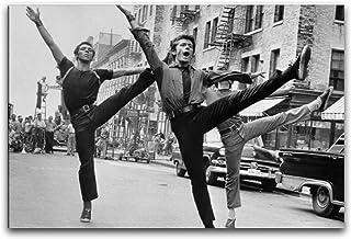 The Dance Scene in The West Side Story Wordt Filmed Poster< canvas kunst muurschildering foto afdrukken, moderne familie j...