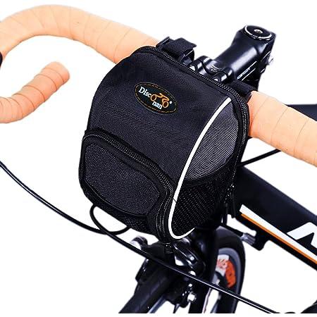 Bike Handlebar Bag Bicycle Front Basket Bag Outdoor Cycling Riding Pack Black