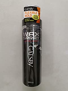 GATSBY Long Keep Wax Spray 180g -Maintains Hairstyles which is Created by Wax, Lasts for a Super Long time