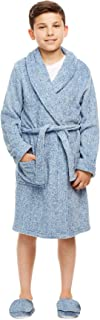 Boys Sleep Robe - Frosted Plush Bathrobe