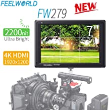 FEELWORLD FW279 7 Inch 2200nit Daylight Viewable Full HD 1920x1200 IPS Panel DSLR On Camera Field Monitor 4K HDMI Input/Output Video Assist Peaking Focus