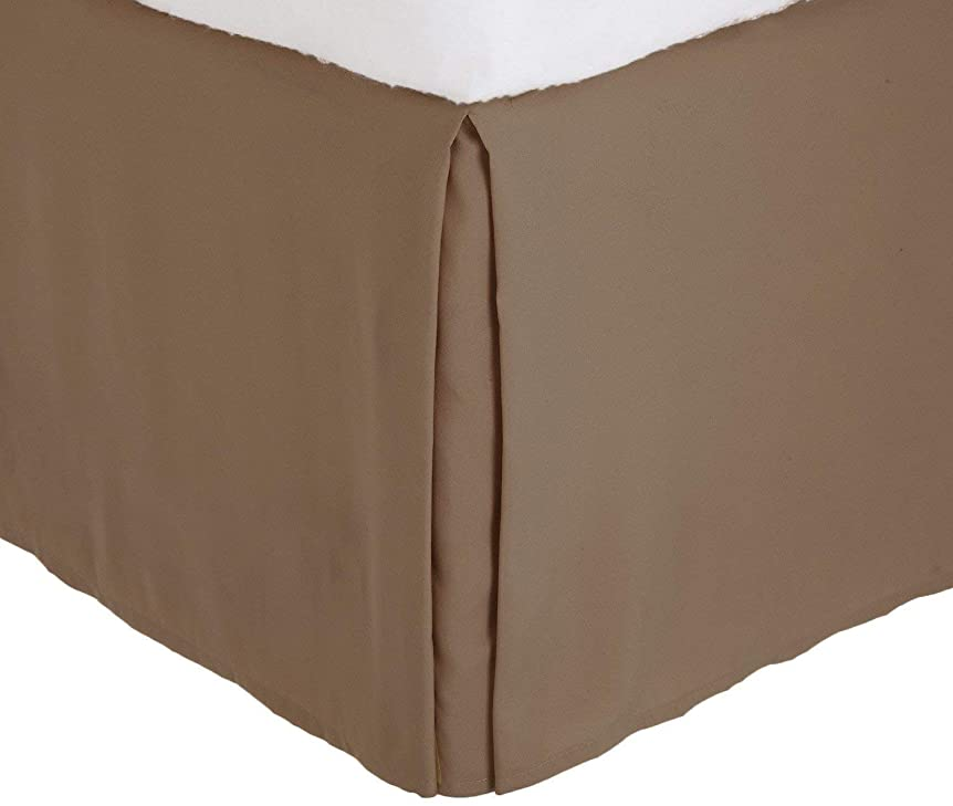 動暴力リフレッシュLinen Plus キングサイズ ラグジュアリー テイラード ベッドスカート 35.56cm ドロップ プリーツ スタイリング ダスト フリル ソリッド トープ