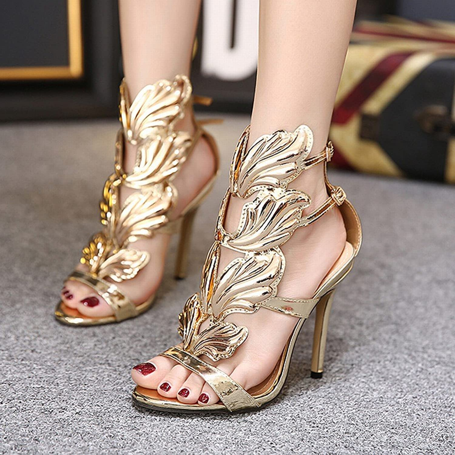 PLLP Metallic High Heel Womens Sandals