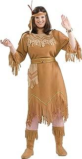 Native American Indian Maiden Fancy Dress Womens Halloween Plus Size Costume