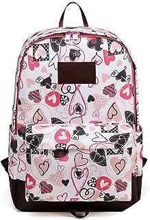 School Backpack Women 2019 Casual Student College Backpack Bags for School Waterproof Oxford Men's Backpack Mochilas,Pink Printed,36X12X43Cm