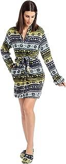 Women's Ladies Luxe Plush Sleepwear Robe & Slipper Sets