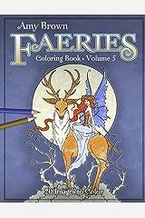 Amy Brown Faeries Coloring Book 5 Paperback