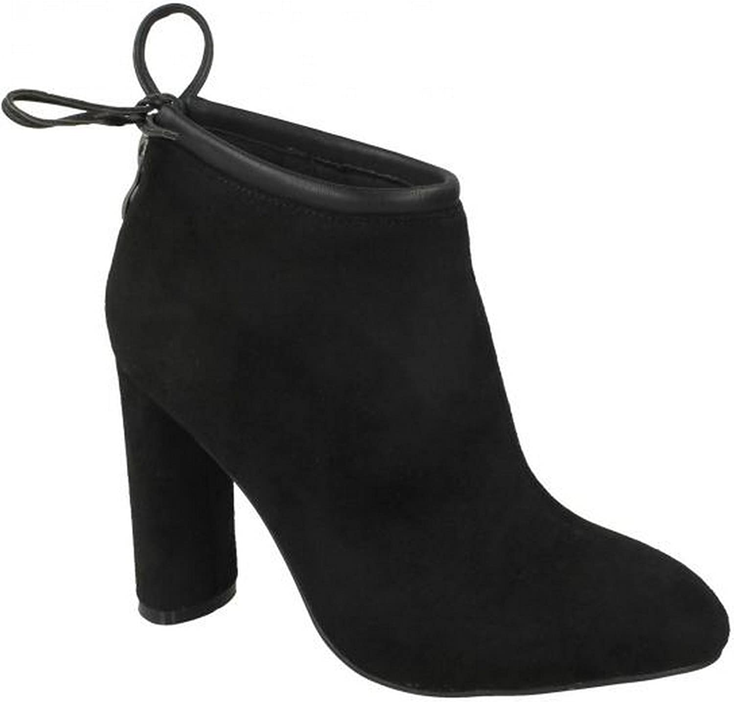 Spot On Womens Ladies Back Tie Ankle Boots
