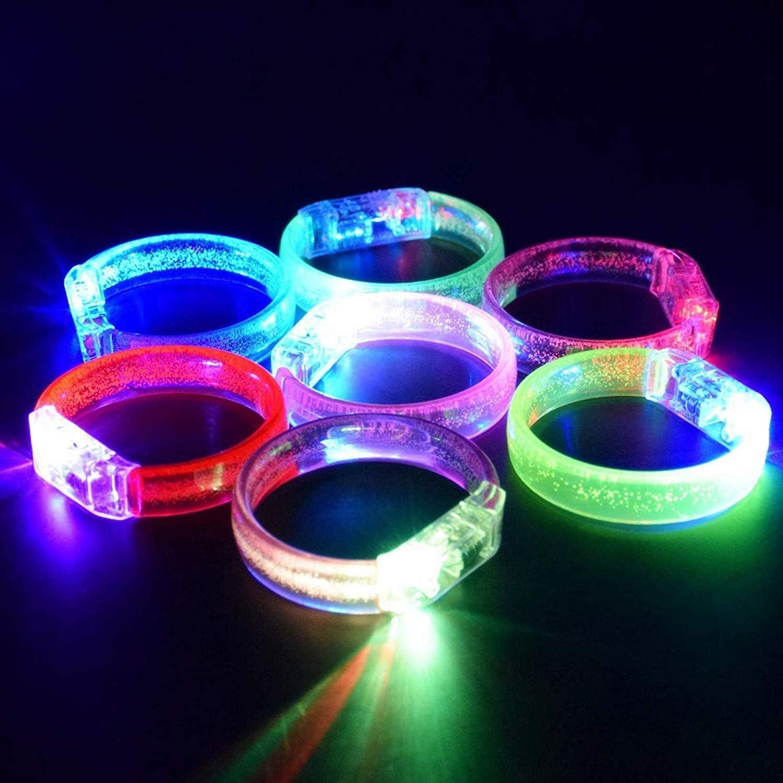 M.best Glow Bracelets with Spare Dark Batteries in Brac The Kansas Detroit Mall City Mall
