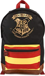 Mochila de Harry Potter Hogwarts Crest Mochila Grande Premium Negra