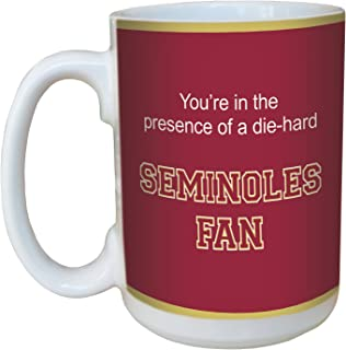 Tree-Free Greetings lm44437 Seminoles College Football Fan Ceramic Mug with Full-Sized Handle, 15-Ounce