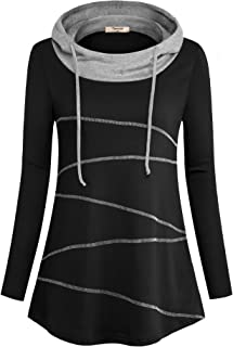 Timeson Women's Cowl Neck Pullover Athletic Tunics Shirt