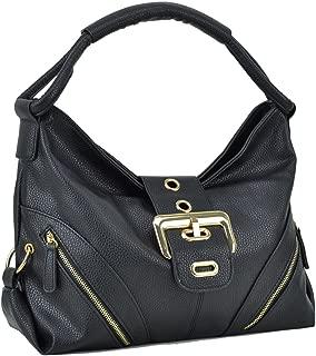 Dasein Women's Fashion Hobo handbags Buckled Flap Shoulder Purses for Woman Top Handle Bags